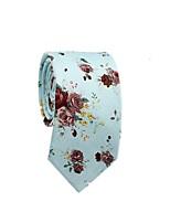 cheap -Men's Party / Basic Cotton / Polyester Necktie - Floral / Color Block / Jacquard / All Seasons