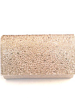 cheap -Women's Bags PVC(PolyVinyl Chloride) Evening Bag Crystals Gold / Black / Silver
