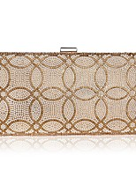 cheap -Women's Bags PU(Polyurethane) / Rhinestones Evening Bag Crystals / Pearls Gold / Black / Silver