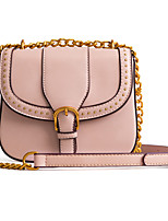 cheap -Women's Bags PU(Polyurethane) Shoulder Bag Rivet Black / Blushing Pink / Khaki
