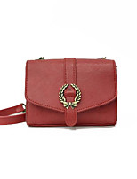 cheap -Women's Bags PU(Polyurethane) Shoulder Bag Buttons Red / Gray / Brown