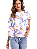 cheap -Women's Basic T-shirt - Geometric Print