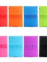 Недорогие -Кейс для Назначение Huawei MediaPad MediaPad T3 10(AGS-W09, AGS-L09, AGS-L03) Защита от удара / со стендом Кейс на заднюю панель Однотонный Мягкий Силикон для Huawei MediaPad T3 10(AGS-W09, AGS-L09