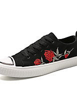 Недорогие -Муж. Полотно / Полиуретан Весна / Осень Удобная обувь Кеды Черный / Красный