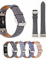 baratos -Pulseiras de Relógio para Fitbit Blaze Fitbit Pulseira de Couro Tecido Tira de Pulso