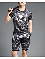 preiswerte -Damen Solide / Geometrisch - Retro T-shirt Quaste Schwarz & Weiß