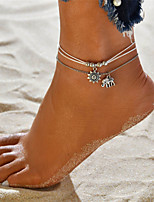 cheap -Layered Anklet - Elephant, Sun Vintage, Bohemian, Tropical White For Gift / Bikini / Women's / Multi Layer