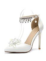 abordables -Femme Chaussures Polyuréthane Printemps été D'Orsay & Deux Pièces Chaussures de mariage Talon Aiguille Bout pointu Cristal / Paillette