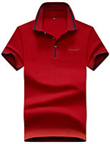 cheap -Men's Cotton Polo - Solid Colored Shirt Collar / Please choose one size larger according to your normal size. / Short Sleeve