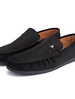 cheap -Men's Shoes Suede / PU(Polyurethane) Fall Moccasin Loafers & Slip-Ons Black / Gray / Khaki