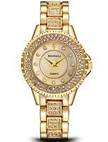 Недорогие -Жен. Наручные часы Китайский Секундомер / Имитация Алмазный / Крупный циферблат Нержавеющая сталь Группа Роскошь / Кольцеобразный