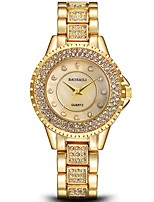 cheap -Women's Wrist Watch Chinese Chronograph / Imitation Diamond / Large Dial Stainless Steel Band Luxury / Bangle Silver / Gold