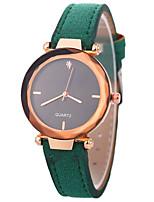 baratos -Xu™ Mulheres Relógio Elegante / Relógio de Pulso Chinês Criativo / Relógio Casual / imitação de diamante PU Banda Fashion / Elegante Preta / Vermelho / Marrom