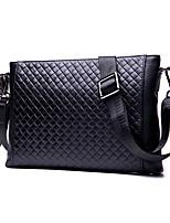 cheap -Women's Bags Cowhide Shoulder Bag Zipper / Embossed Black