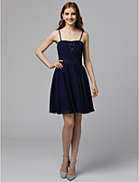 cheap -A-Line Strapless Short / Mini Chiffon Cocktail Party / Homecoming Dress with Beading / Appliques / Pleats by TS Couture®