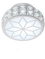 baratos -QIHengZhaoMing Montagem do Fluxo Luz Ambiente - Cristal, 110-120V / 220-240V, Branco Quente / Branco Frio, Fonte de luz LED incluída
