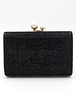 cheap -Women's Bags Polyester / Alloy Evening Bag Buttons / Pearls Black