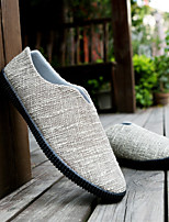 cheap -Men's Shoes Canvas Summer Comfort Loafers & Slip-Ons Beige / Blue / Khaki