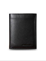 cheap -Men's Bags Cowhide Wallet Zipper Black