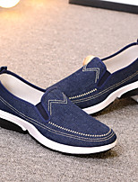 cheap -Men's Shoes Canvas Fall Comfort Loafers & Slip-Ons Black / Blue