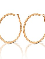 cheap -Women's Hoop Earrings - Sweet, Elegant Gold For Evening Party / Street
