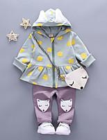 cheap -Baby Girls' Print Long Sleeve Clothing Set