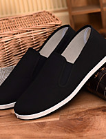 cheap -Men's Shoes Cotton Spring Comfort Loafers & Slip-Ons Black