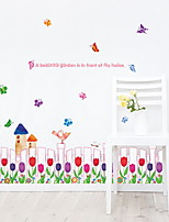 cheap -Decorative Wall Stickers - Plane Wall Stickers Floral / Botanical Bedroom / Bathroom