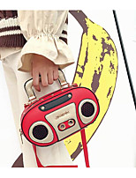 cheap -Women's Bags PU(Polyurethane) Shoulder Bag Zipper White / Black / Red