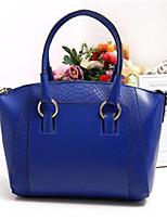 economico -Per donna Sacchetti PU Tote Cerniera Verde scuro / Fucsia / Royal Blue