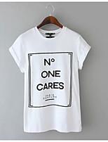 billige -Dame - Bogstaver I-byen-tøj T-shirt