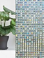 abordables -Film de fenêtre et autocollants Décoration Géométrique Géométrique PVC Autocollant de Fenêtre / Miroir
