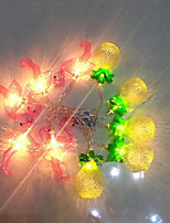 cheap -1.5m String Lights 10 LEDs Warm White / White Batteries Powered