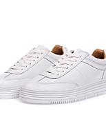 Недорогие -Жен. Обувь Полиуретан Весна лето Удобная обувь Кеды На плоской подошве Круглый носок Белый / Розовый