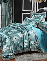 cheap -Duvet Cover Sets Luxury Polyster Printed & Jacquard 4 Piece