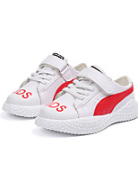 cheap -Girls' Shoes PU(Polyurethane) Spring & Summer Comfort Sneakers Walking Shoes for Kids Red / Black / White / White / Green / Slogan