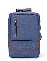 cheap -Unisex Bags Canvas Backpack Zipper Blue