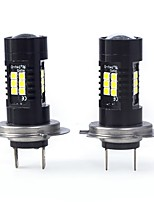 abordables -2pcs H7 / P × 26d Automatique Ampoules électriques 21 W SMD 3030 2100 lm 21 LED Feu Antibrouillard For Mercedes-Benz SL550 Toutes les Années