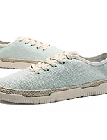 cheap -Men's Shoes Linen Spring / Summer Comfort Sneakers Black / Beige / Green
