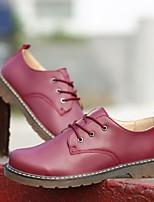Недорогие -Муж. обувь Полиуретан Весна Удобная обувь Туфли на шнуровке Черный / Темно-коричневый / Вино