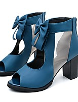 cheap -Women's Shoes Suede Fall Comfort / Basic Pump Heels Chunky Heel Black / Blue