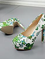 economico -Per donna Scarpe PU (Poliuretano) Primavera estate Decolleté Tacchi Footing Plateau Punta chiusa Rosso / Verde / Blu