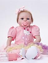 cheap -FeelWind Reborn Doll Baby Girl 22 inch lifelike, Hand Applied Eyelashes Kid's Girls' Gift