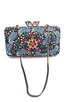 cheap -Women's Bags Alloy Evening Bag Crystals Blue