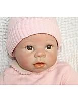 economico -NPKCOLLECTION Bambole Reborn Bambini 24 pollice Silicone - Occhi marroni di impianto artificiale Per bambino Da ragazza Regalo