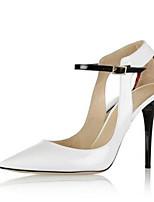 baratos -Mulheres Sapatos Couro Envernizado Primavera Conforto / Plataforma Básica Saltos Salto Agulha Branco