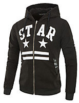 cheap -Men's Basic Hoodie - Geometric / Letter, Print