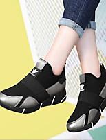Недорогие -Жен. Обувь Полиуретан Весна Удобная обувь Кеды Платформа Черный / Серебряный