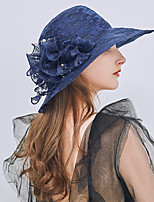 cheap -Women's Active / Holiday Straw Hat - Solid Colored Ruffle