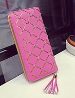 cheap -Women's Bags PU(Polyurethane) Wallet Zipper Blushing Pink / Beige / Fuchsia